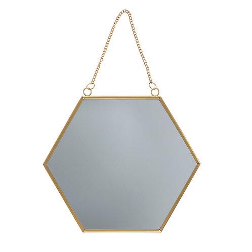 Miroir hexagonal or