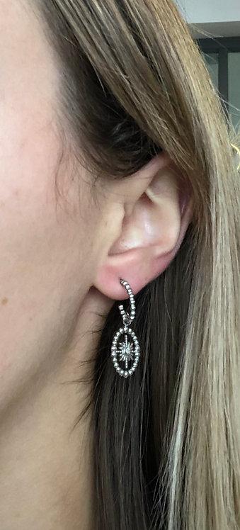 """Boucles d'oreilles """"Ovale étoile"""""""