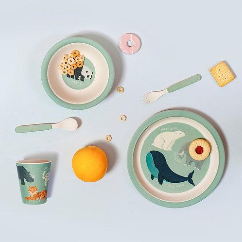 Coffret vaisselle, animaux