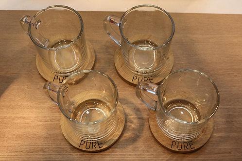 Coffret de 4 tasses à café