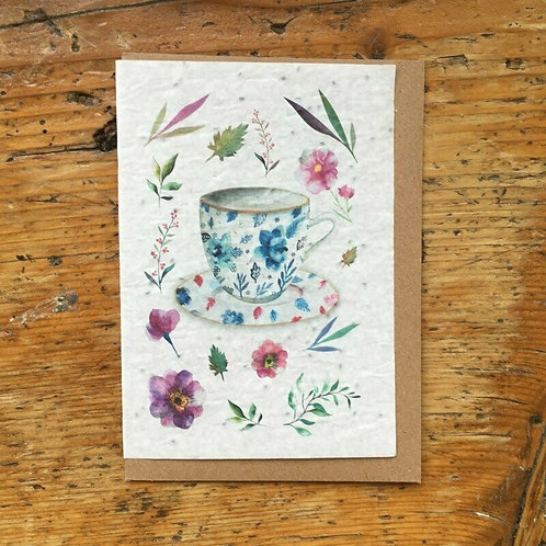 "Carte à planter ""Petite tasse"