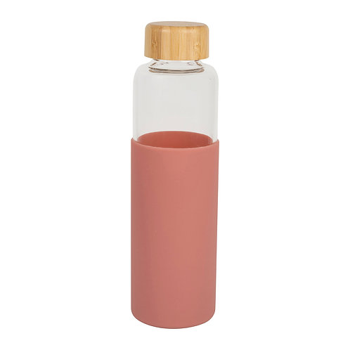 Bouteille isotherme en verre, fushia