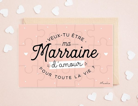 """Puzzle d'annonce """"Marraine"""""""