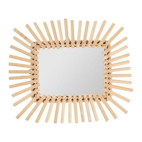 Miroir rectangle rotin naturel