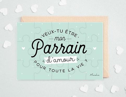 """Puzzle d'annonce """"Parrain"""""""