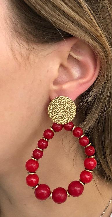 """Boucles d'oreilles """"Lola"""" rouges"""
