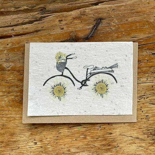 """Carte à planter """"Vélo"""""""