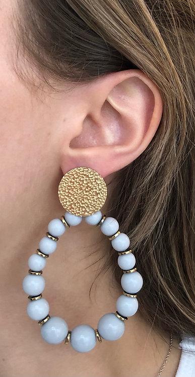 """Boucles d'oreilles """"Lola"""" grises"""