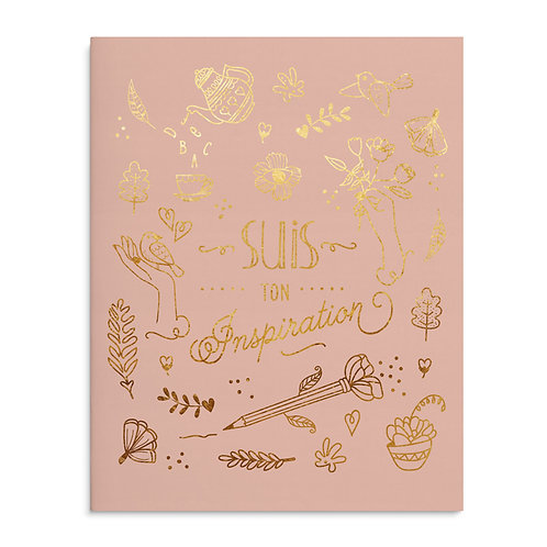 Cahier A5 - 80 pages rose