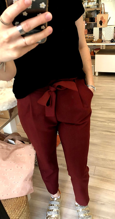 Pantalon noeud rouille