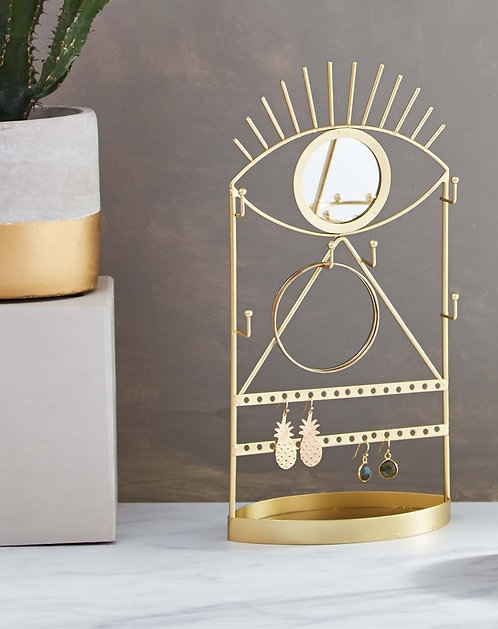 Porte bijoux œil doré