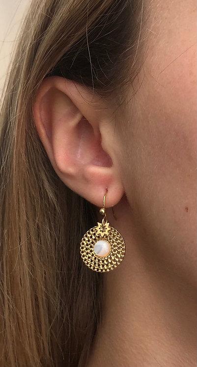 """Boucles d'oreilles """"Bali"""" blanc"""