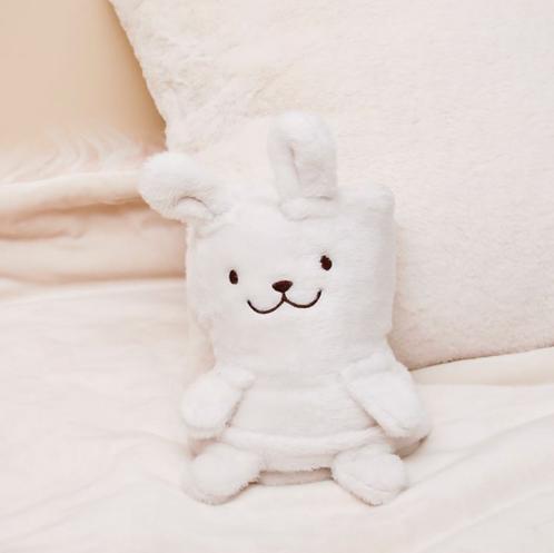 Plaid lapin blanc