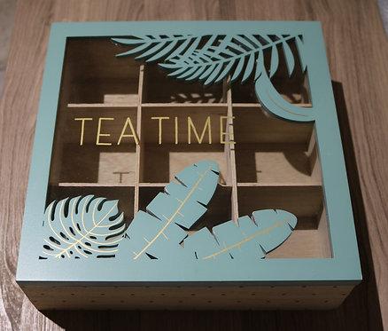 """Boîte à thé """"Feuilles vertes"""""""