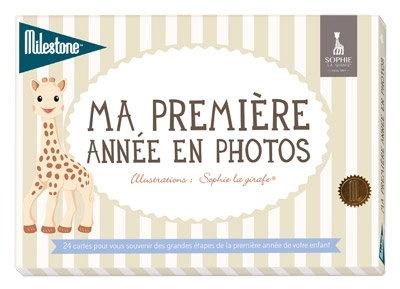 """Cartes photos """"Ma première année"""", Sophie la girafe"""