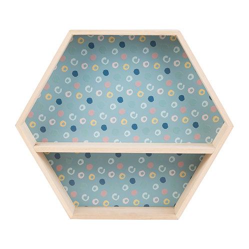 Etagère hexa bleu