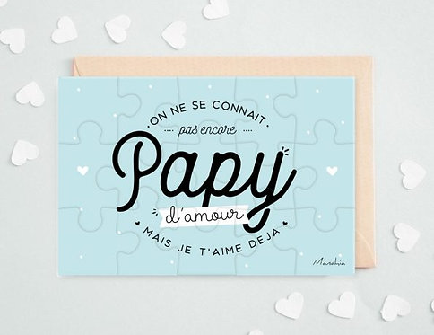 """Puzzle d'annonce """"Papy"""""""