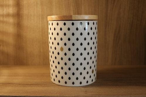 "Boîte céramique ""Noir/Or"""