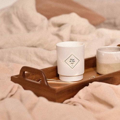 """Bougie parfumée """"Fleur de thé"""" collier argent"""