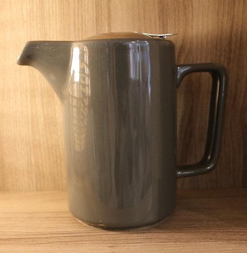 Théière céramique grise