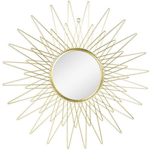 Miroir doré soleil