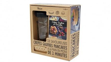 Coffret Shaker crêpes + Tartineur + Livre de recettes