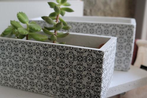 """Cache-pots rectangles """"Amélie"""" x2"""