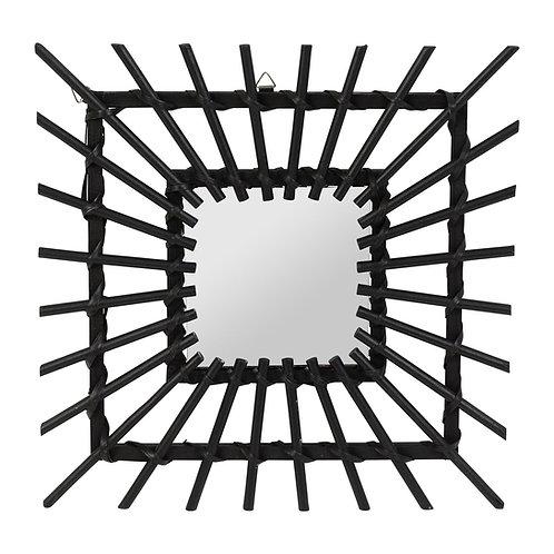 """Miroir """"Balaméa"""" noir 30x30"""