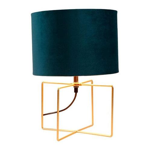 Lampe métal velours vert