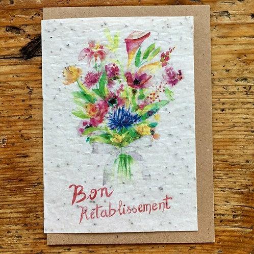 """Carte à planter """"Bon rétablissement"""""""
