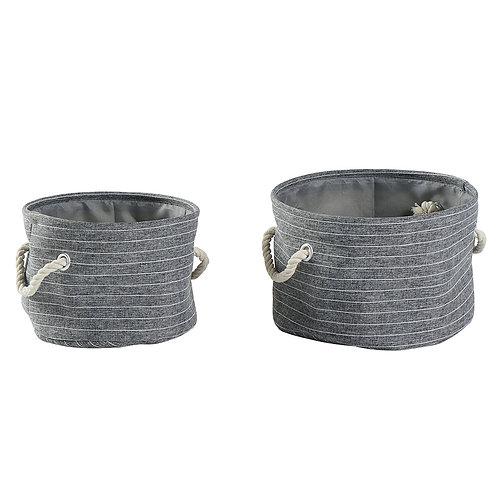 Set de 2 paniers gris