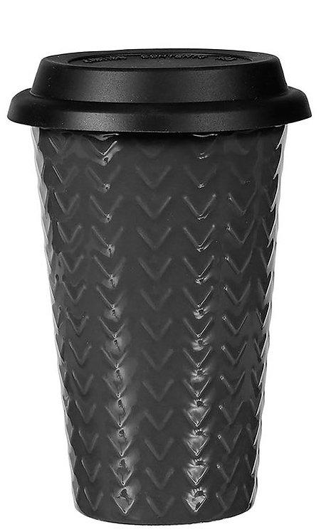 Mug double parois gris