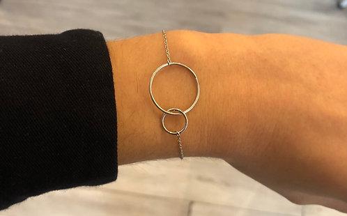 """Bracelet """"Inséparables"""" argent"""