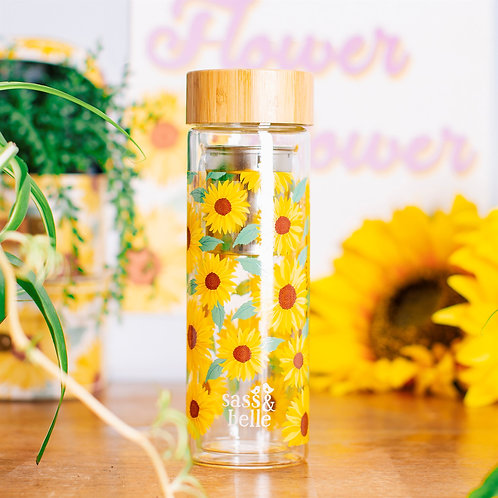 Bouteille infuseur tournesol