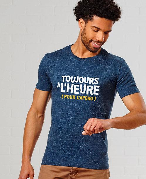 """T-shirt """"Toujours à l'heure"""""""