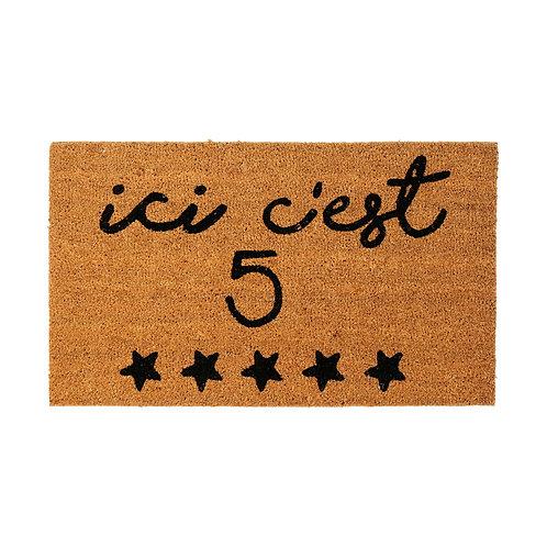 "Paillasson ""5 étoiles"""