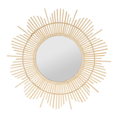 "Miroir ""Soleil"" bambou"