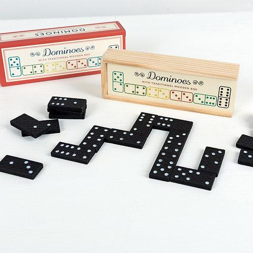 Boîte à dominos en bois