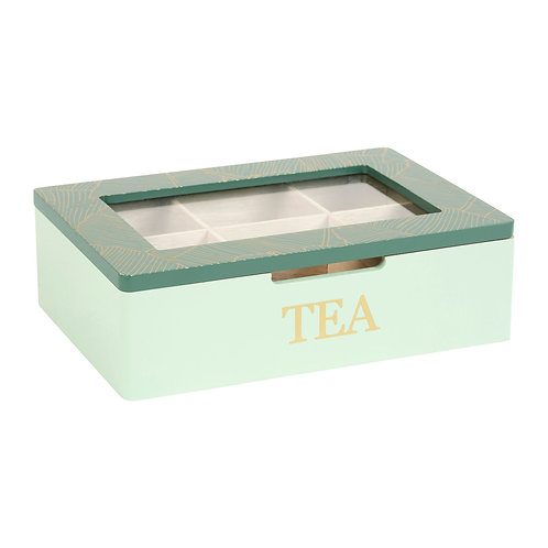"Boîte à thé ""Banae"" verte"