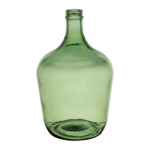 Vase bouteille Comete vert
