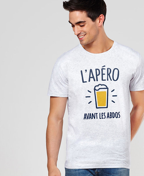 T-shirt l'apéro avant les abdos