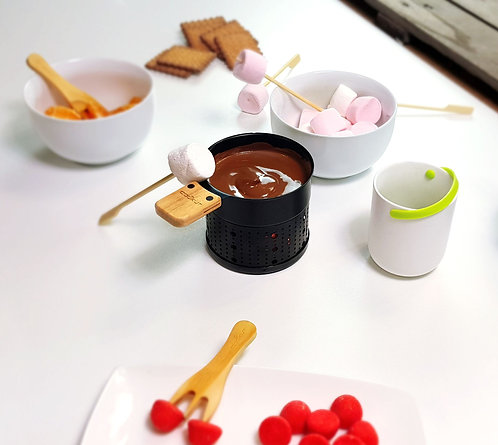 Fondue au chocolat à la bougie