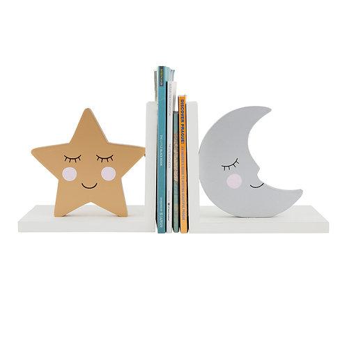 Serre-livres étoile et lune