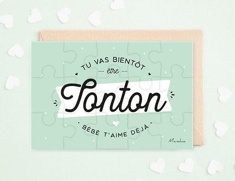 """Puzzle d'annonce """"Tonton"""""""