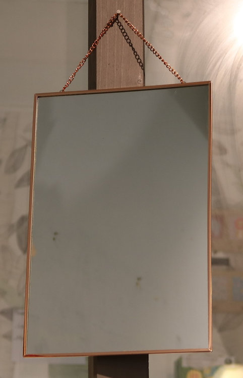 Miroir rectangle métal cuivre
