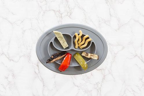 Set de table et assiette antidérapant gris foncé
