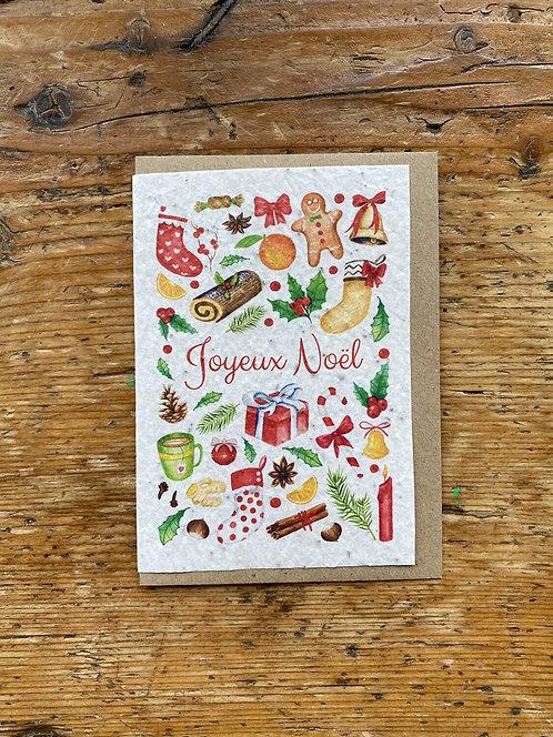 """Carte à planter """"Joyeux Noël"""""""