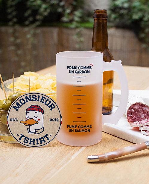 """Chope à bière """"Frais comme un gardon"""""""
