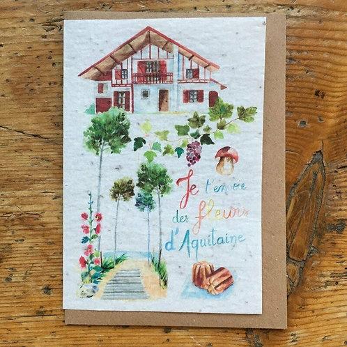 """Carte à planter """"Aquitaine"""""""