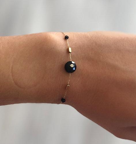 """Bracelet """"Rachel"""" noir"""